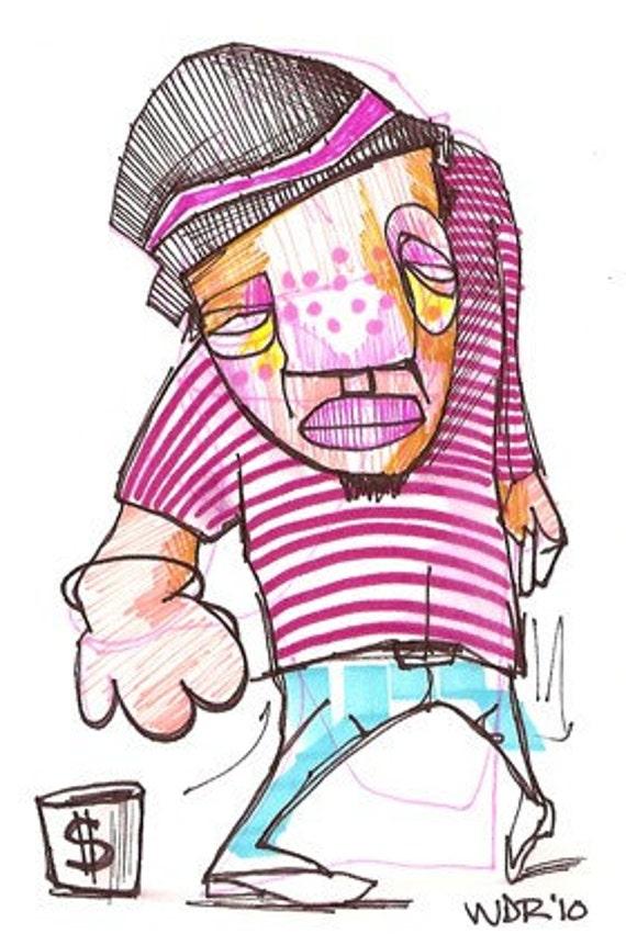 Dance For Change - Original Illustration on Bristol
