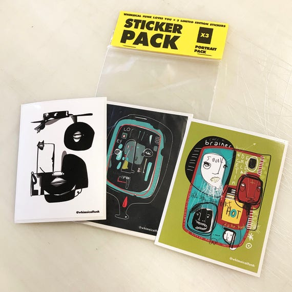 Portrait Sticker Pack - Limited Edition