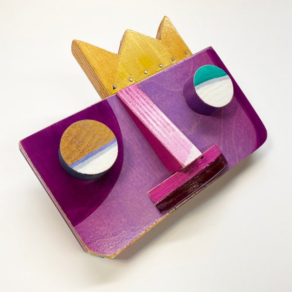 Purp King - Original Mixed Media Wall Sculpture
