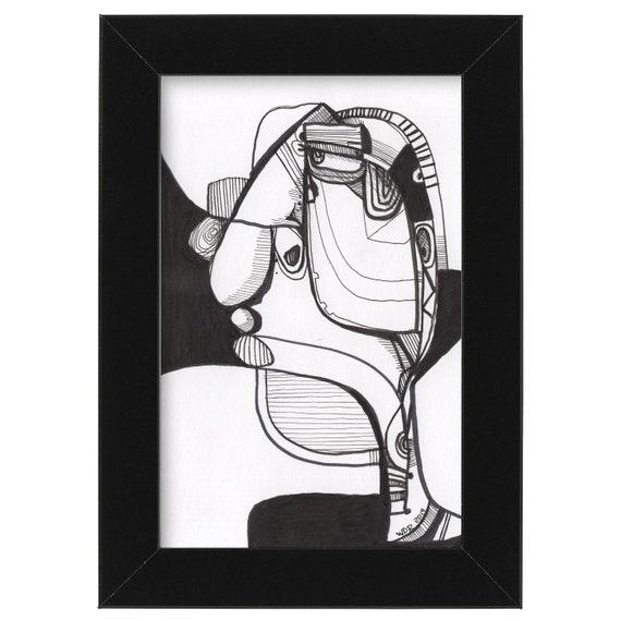 "Sounder - Original Illustration on Bristol - 4""x6"""