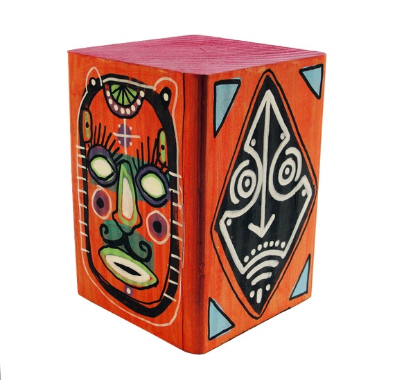 Funk Totem Part No. 293 - Original Mixed Media Block - Vol. 12