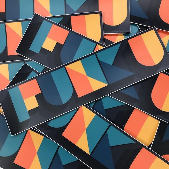 """FUNK U Vinyl Sticker - 3"""" x 3"""""""