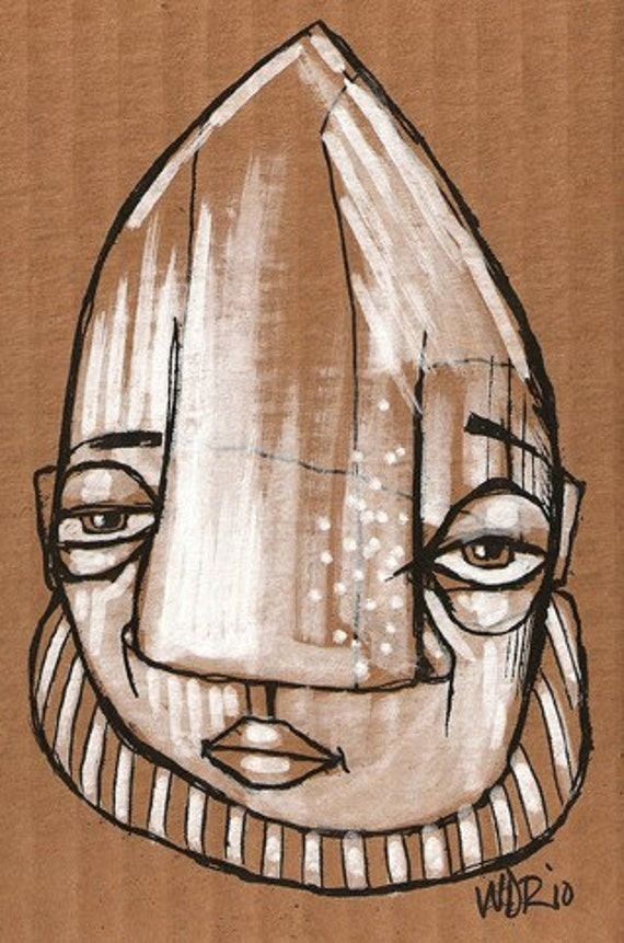 Mort - Original Illustration on Cardboard