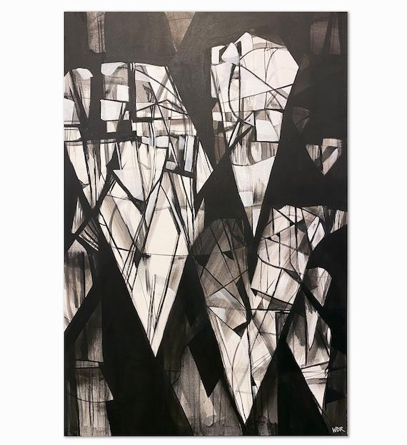 """Diamond Fall - Original Acrylic Painting - 20"""" x 30"""""""