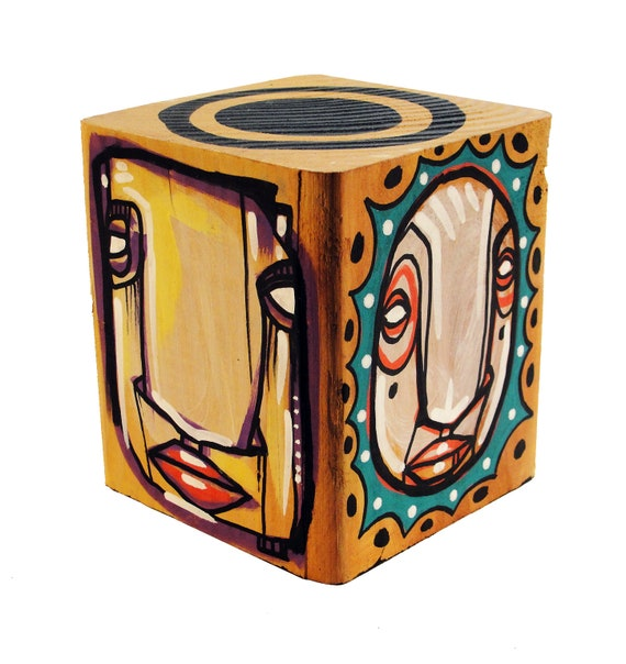 Funk Totem Part No. 287 - Original Mixed Media Block - Vol. 12
