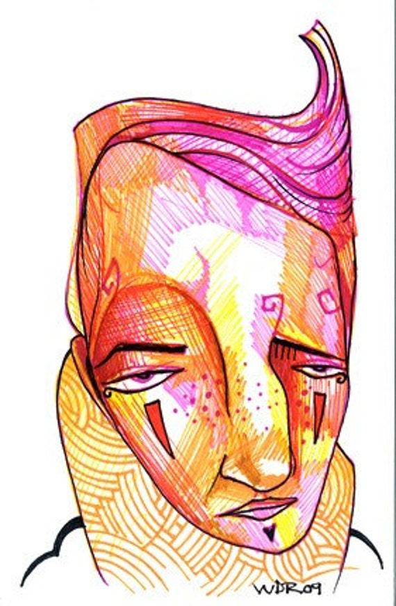 Huddled - Original Illustration on Bristol