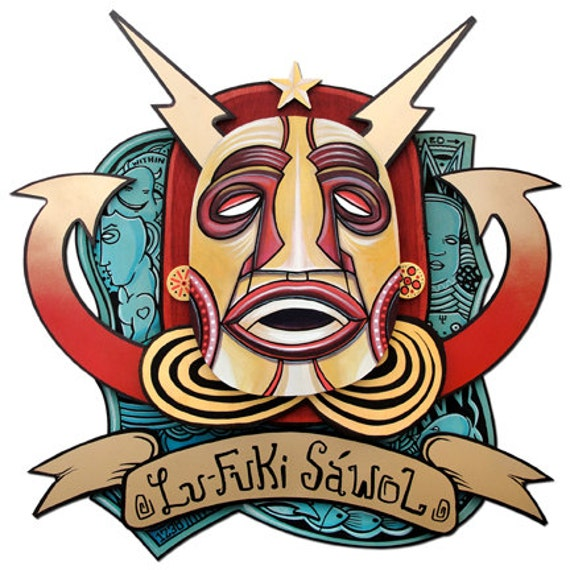 Lu Fuki Sawol - Original Layered Mixed Media Painting - 2011