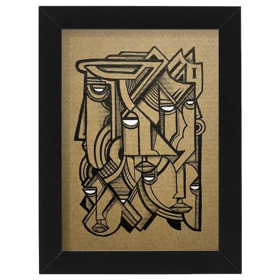 "Tested Subjects  - Original Ink Illustration on Cardboard - 5"" x 7"" - Original Artwork"