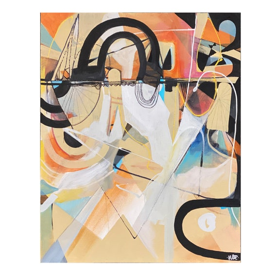"Requiem - Original Mixed Media painting on 16"" x 20"" on Canvas"
