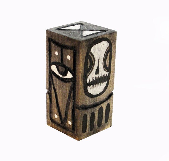 Funk Totem Part No. 228 - Original Mixed Media Block - Vol. 12