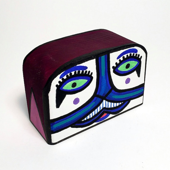 Funk Totem Part No. 366 - Original Mixed Media Block - Vol. 14