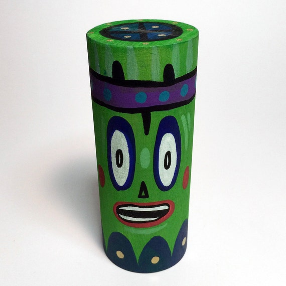 Funk Totem Part No. 358 - Original Mixed Media Block - Vol. 14