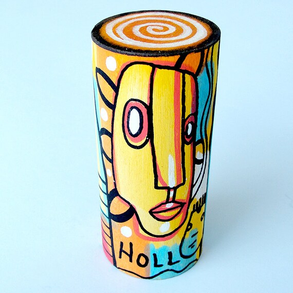 Funk Totem Part No. 198 - Original Mixed Media Art Block - Vol. 5