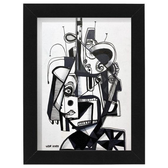 "Diamond Head - Original 5""x7"" Mixed Media Drawing - ART"