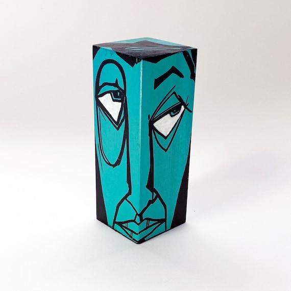 Funk Totem Part No. 422 - Original Mixed Media Block - Vol. 15