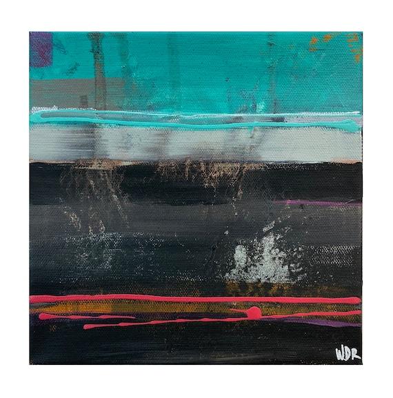 "Sky Borders - Original Mixed Media painting on 16"" x 20"" on Canvas"