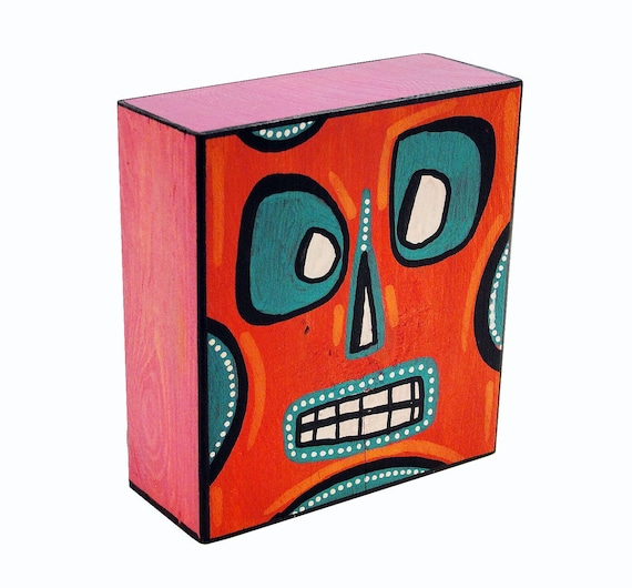 Funk Totem Part No. 266 - Original Mixed Media Block - Vol. 12