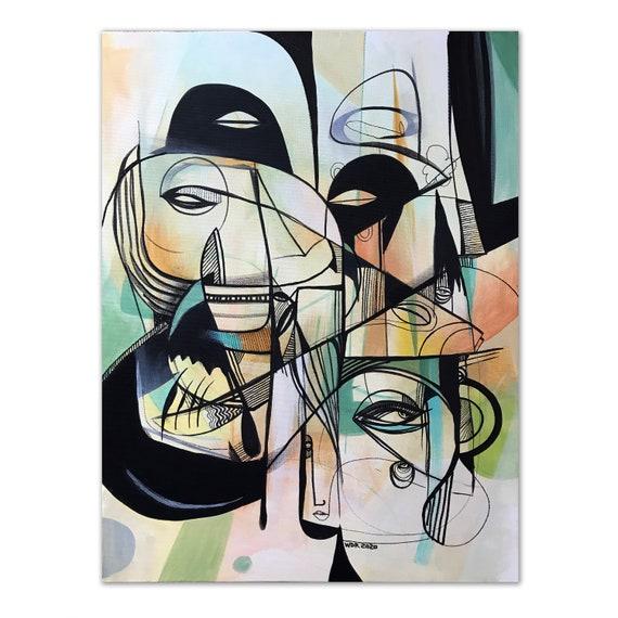 "Qualifayne - Original Acrylic Painting - 18"" x 24"""