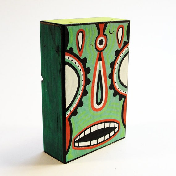 Funk Totem Part No. 272 - Original Mixed Media Art Block - Vol. 12