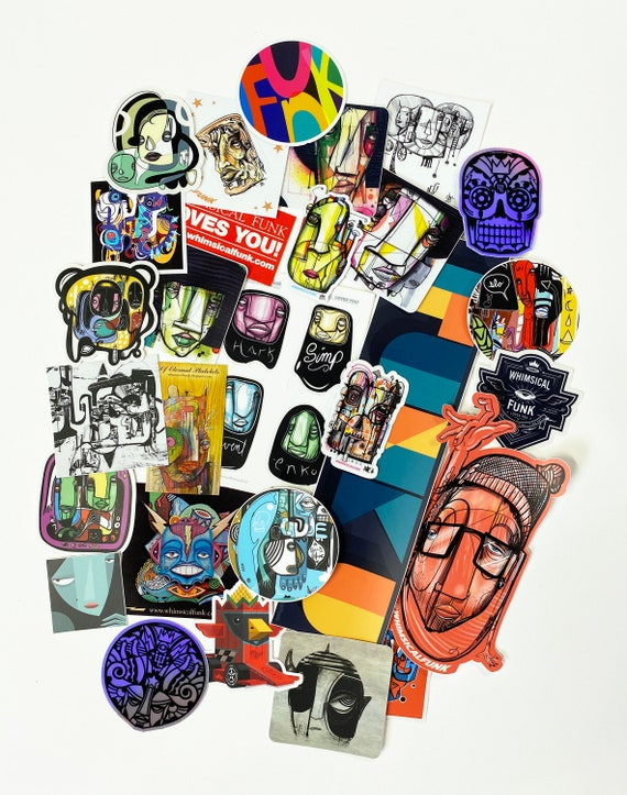 STICKERS - A Big Funkin Mega Mystery Sticker Pack - Limited Edition