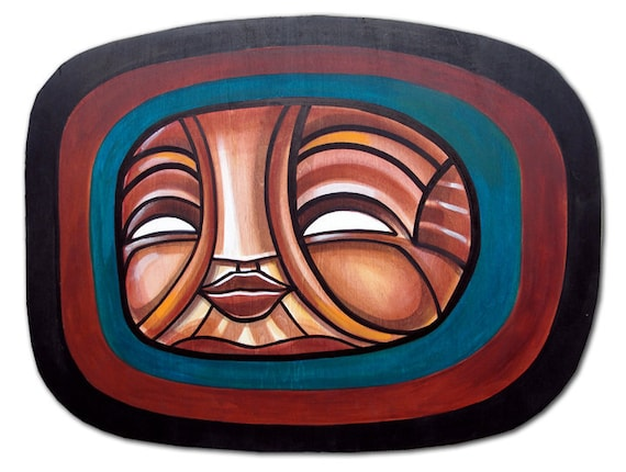 Echo Child - Original Painting on Cut-Out Wood
