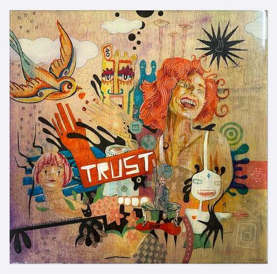 """Trust - Love Her Painted Nails - Original Art on wood panel with Resin coating - 15"""" x 15"""""""