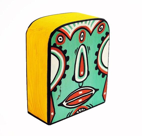 Funk Totem Part No. 263 - Original Mixed Media Block - Vol. 12