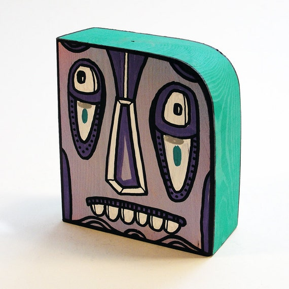 Funk Totem Part No. 264 - Original Mixed Media Block - Vol. 12