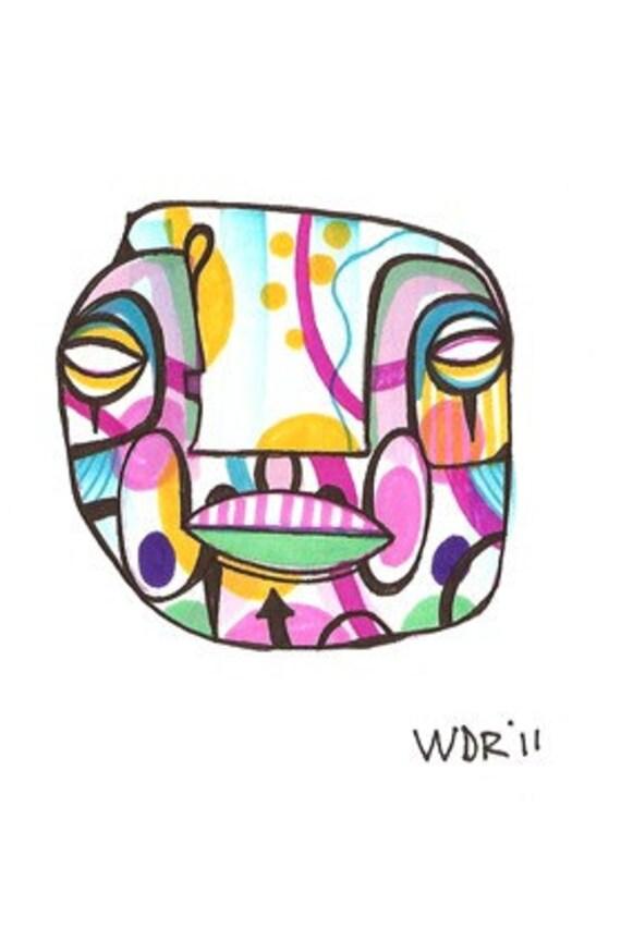 Chin Up - Original Illustration on Bristol