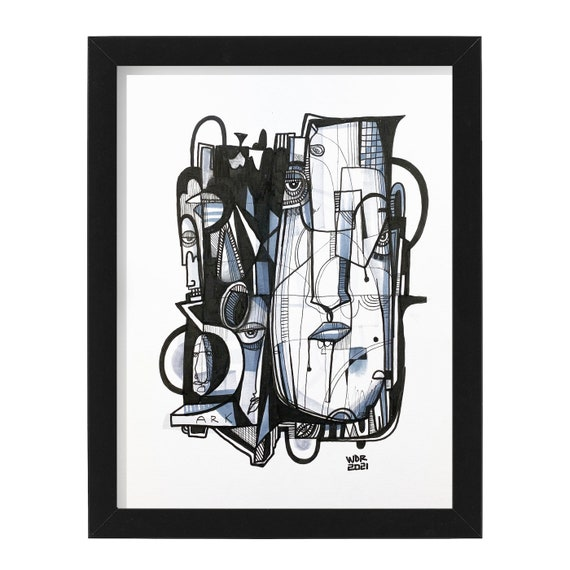 """Ark - Original mixed media Illustration on Bristol - 8"""" x 10"""" - Original Artwork"""