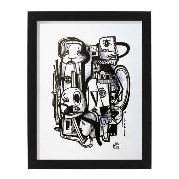 "Victorious - Original mixed media Illustration on Bristol - 8"" x 10"" - Original Artwork"