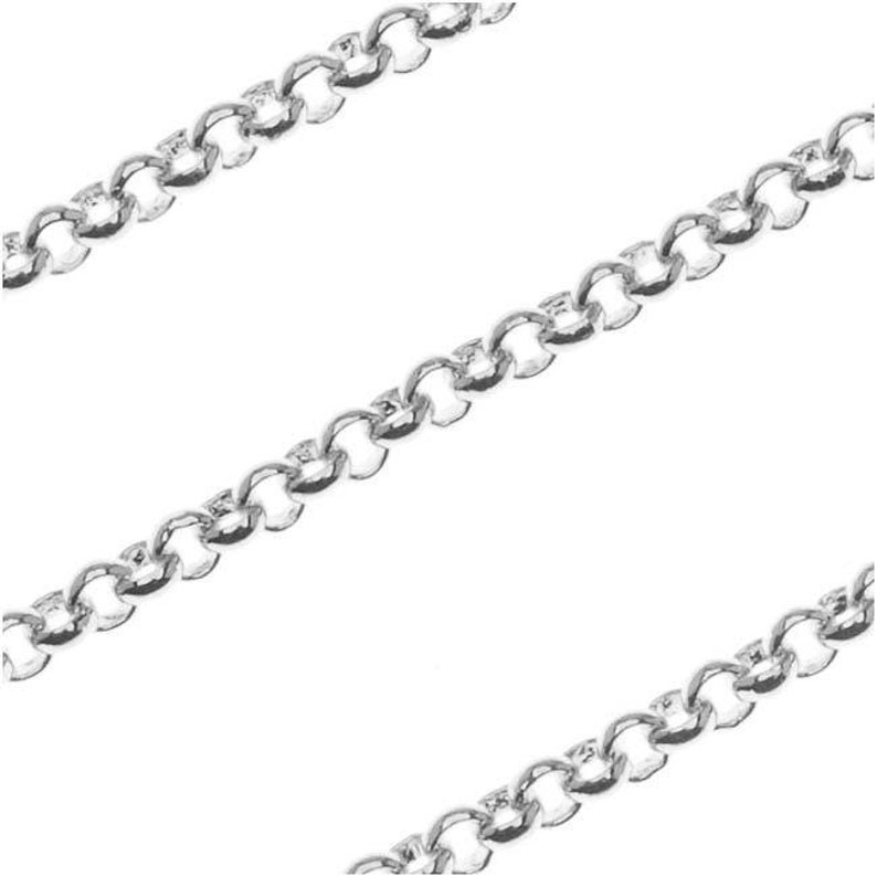 2mm by the Foot Antiqued Silver Plated Rolo Chain