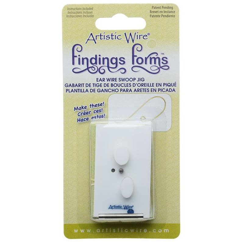 Artistic Wire 1 Piece Findings Forms Jig Tool Swoop Ear Wire