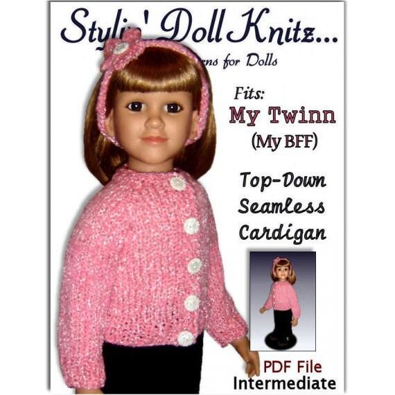 Doll Clothes Knitting Pattern Fits American My Twinn My Bff Etsy