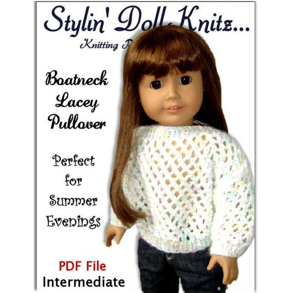 Pdf 18 Inch Doll Knitting Pattern Fits American Girl Doll Ag Etsy