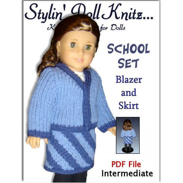 Knitting Patterns Fits American Girl And 18 Inch Dolls Knit Etsy