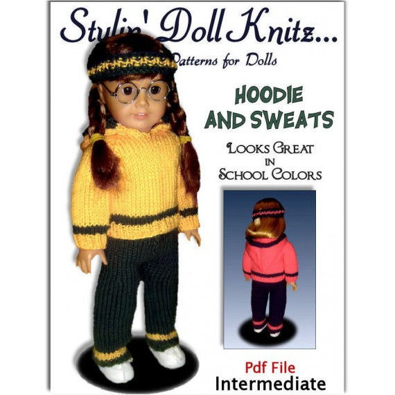 Doll Clothes Knitting Pattern Fits American Girl Doll18 Etsy