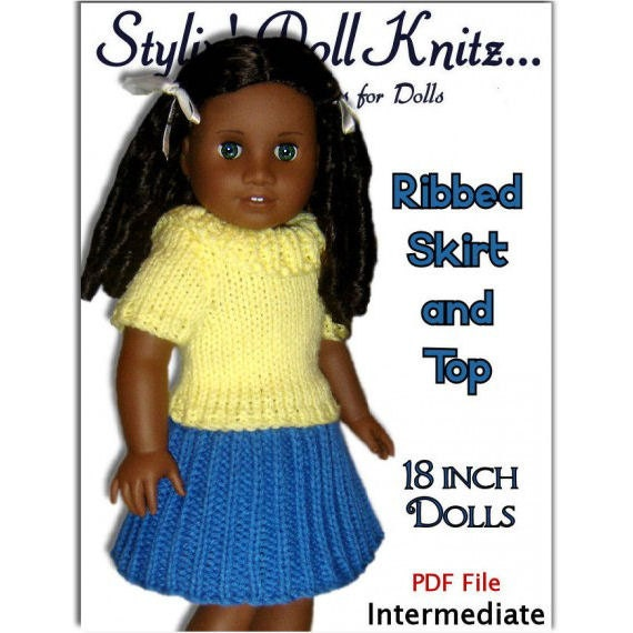 Knitting Patterns For Doll Clothes Fit American Girl Doll 18 Etsy
