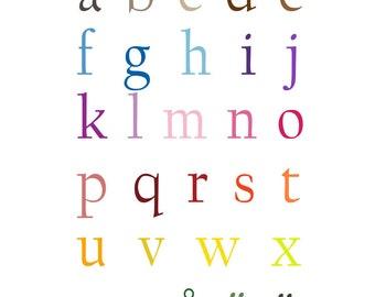Swedish Alphabet Poster - 11 x 14 inches