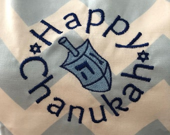 """Apron - """"Happy Chanukah"""" (Adult)"""