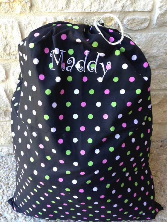 Laundry Bags Monogrammed Personalized 21x 30 Solid Fabric