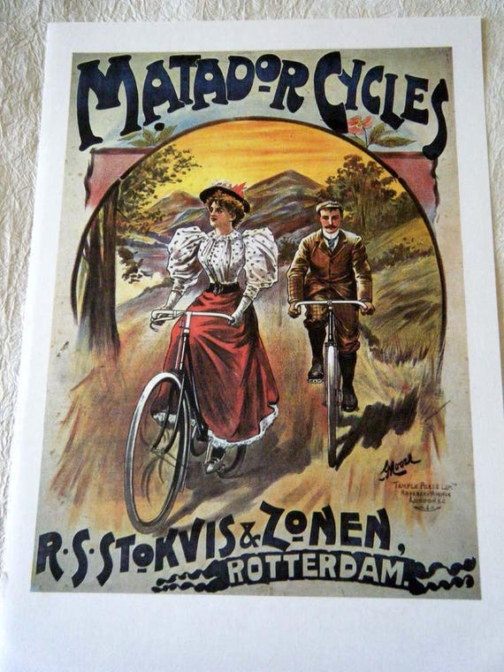 Cycles wonder vintage  French Cycle advertising poster reproduction.