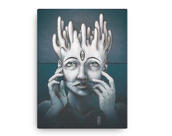 Meditation, canvas print