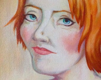 Oil Portrait Painting Commission (real deal, not a print) Multiple Sizes available