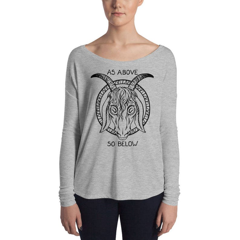 Sizes Small to XL As Above So Below Ladies/' Long Sleeve Tee