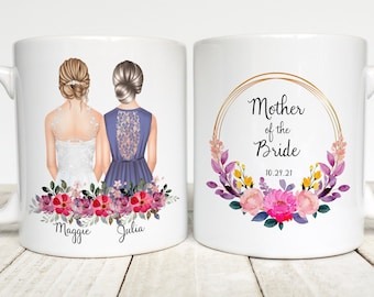 Mother Of The Bride Gift, Gift From Bride To Mom, Mother Of The Bride Personalized Mug,  Mother Of The Bride Wedding Gift, Customized Gift