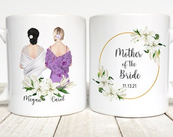 Mother Of The Bride Gift, Custom Mother Of The Bride Personalized Mug, Gift From Bride To Mom, Mother Of The Bride Wedding Gift