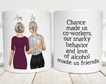 Gift for Coworker Coffee Mug, Work Friend Gift, Office Friends and Co-workers, Colleagues, Funny Office Mug, Co-worker Leaving, Friendship