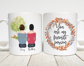 You're My Favorite Person, Best Friend Gift, Personalized Mug, Gift for Best Friend, Custom Mug for Bestie, BFF, Long Distance Gift