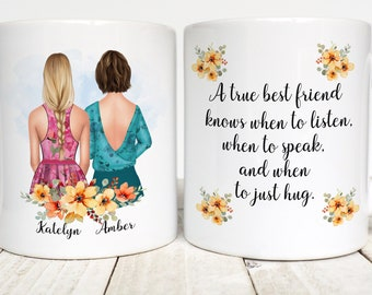 Best Friend Gift, Personalized Mug for best friend, True best friend, bestie, BFF, Custom Best Friend Mug, Birthday Gift for Bestie, BFF